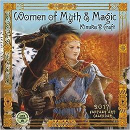 women of myth magic 2017 fantasy art wall calendar