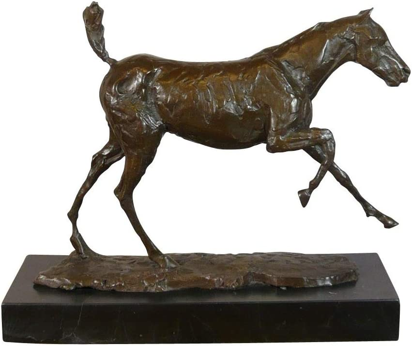 HTdeco - Statuette - Sculpture 100 % bronze - Estatua de Bronce del Caballo Degas.