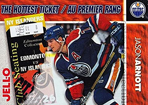 (CI) Jason Arnott Hockey Card 1995-96 Kraft Jell-O Hottest Tickets 1 Jason Arnott - Hottest Ticket