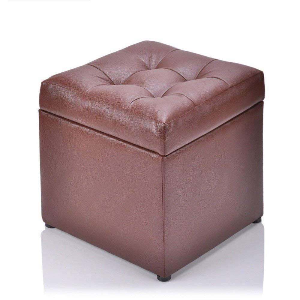 CWJ Taburete de sofá- Cambio de Taburete de sofá Taburete de Zapatos Taburete de Tienda de Ropa Taburete de recepción de niño Taburete de Taburete marrón (tamaño Opcional) - Taburete de almacenamient