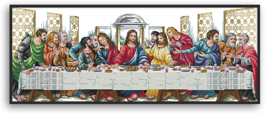 Xdodnev The Last Supper Camel DIY Handmade Needlework Counted 14CT Printed Cross Stitch