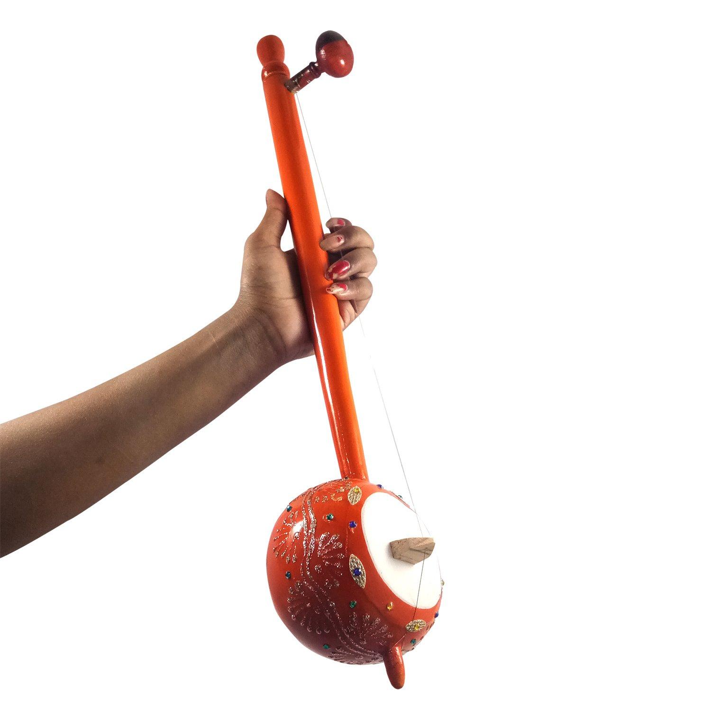 20'' Inch Iktara (Tumbi) Handmade Authentic Indian Folk Music Instrument Playing Wooden 20'' Inch Iktara (Tumbi) or Showpieces Premium Christmas Gift or Multi Occasional Gift