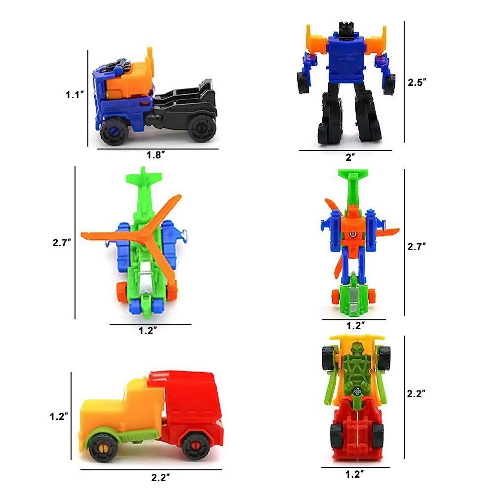 Mcpinky Transform Car Robot, 10PCS Pull Back VehiclesDeformation Car Shape Shifting Robot for Kids Children\'s Gift