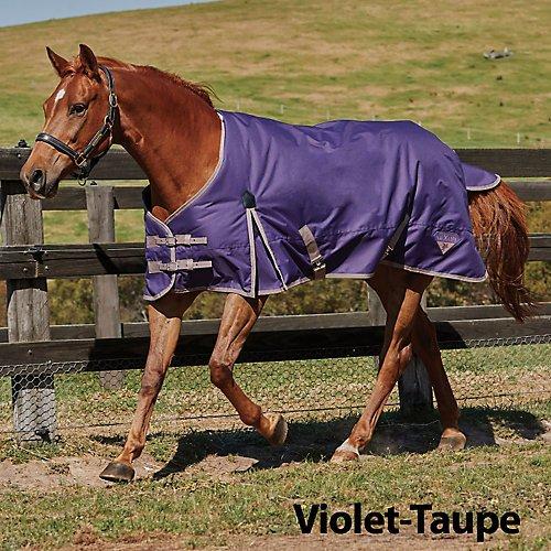 (Saxon 600D Standard Neck Lite Turnout Sheet with Gussets, Violet/Taupe, Size 66)