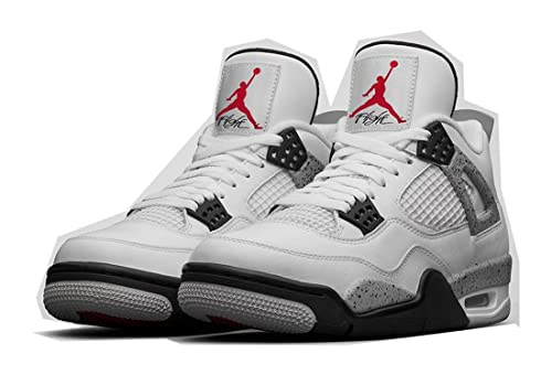 size 40 b1f81 c8a51 Foot Locker Nike Air Jordan 4 OG White Cement WhiteFire Red-Black-