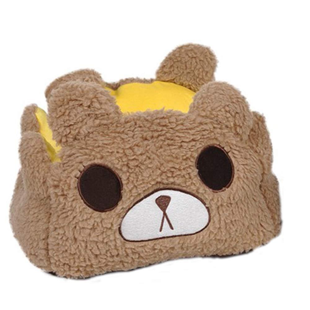 60CMX55CMX22CM Xiao Jian Pet Nest Removable Cat Litter Teddy Small Dog Winter Kennel Cute Cartoon Than Bear VIP Kennel Winter Warm pet Bed (color   60CMX55CMX22CM)