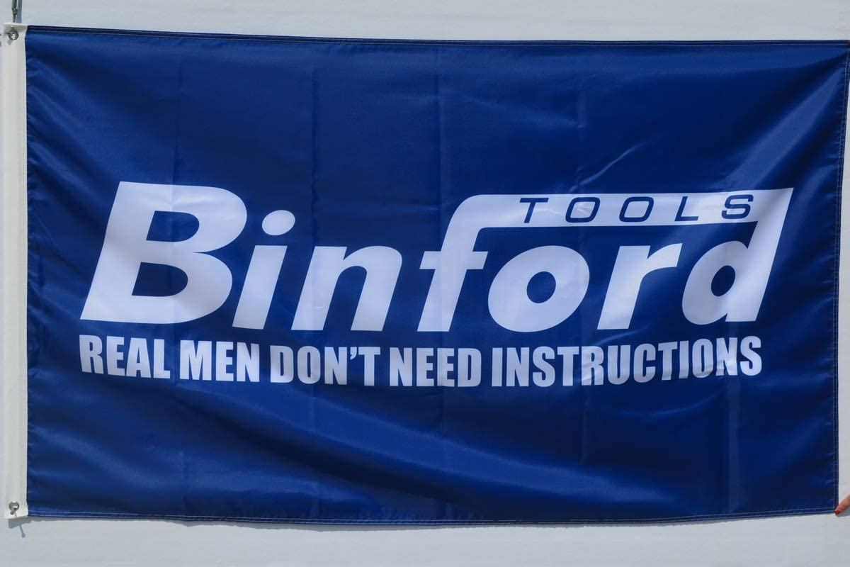 BINFORD TOOLS BLUE MAN CAVE OUTDOOR DURABLE GARAGE SHOP BANNER