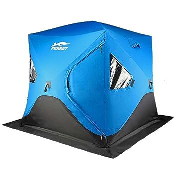 FERRET 4-Person 80u0026quot;X80u0026quot;X77u0026quot; Waterproof Pop-up Portable Ice  sc 1 st  Amazon.com & Amazon.com : FERRET 4-Person 80