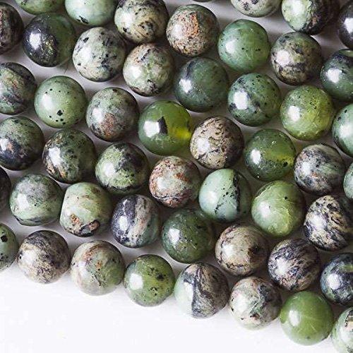 - Cherry Blossom Beads Chinese Jade Beads 8mm Smooth Round - 8 Inch Strand