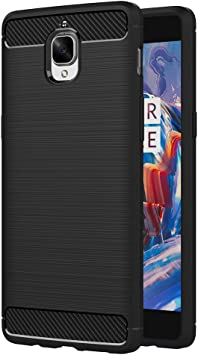 AICEK Funda OnePlus 3/OnePlus 3T, Negro Silicona Fundas para OnePlus 3T Carcasa (5,5 Pulgadas) Fibra de Carbono Funda Case: Amazon.es: Electrónica
