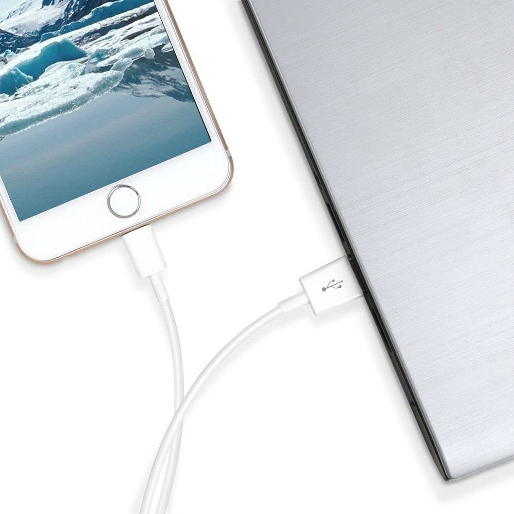 Fast Charging Data Sync Transfer Cord with Plug Travel Wall Charger Compatible with iPhone X//8//8 Plus//7//7 Plus//6//6S//6 Plus//5S//SE//Mini//Air//Max-White 2-Pack Aymuna iPhone Charger Durable USB Cable