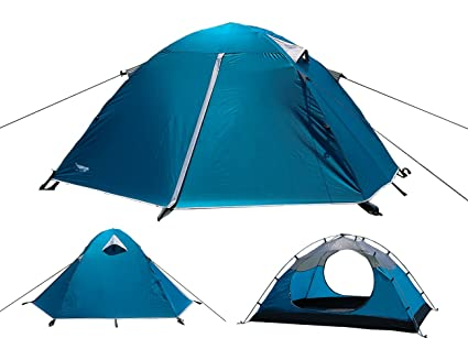 Luxe Tempo Backpacking 2 Person Tents for C&ing with Rainfly 3-4 season 2 Doors  sc 1 st  Amazon.com : 2 person tent with vestibule - memphite.com