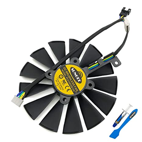 PLD10010S12H 95mm 12V 0.30AMP Graphics Card Cooling Fan For ASUS ROG STRIX GTX 1050 1050Ti RX470 RX570 RX580 POSEIDON GTX 1080Ti P11G GAMING ...