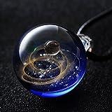 Generic creative _hand-Star_ glass ball pendant necklace handmade jewelry gift glass _520_universe_ decorative necklace pendant women girl models