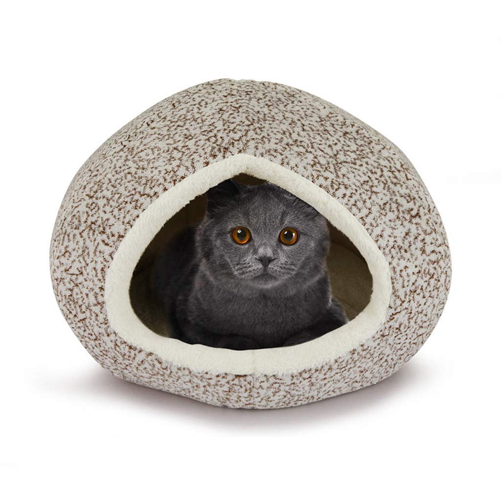 MEIHAO Soft Plush Pet Tent Warm Indoor Rabbit Cat Bed House Cozy Cat Nest Removable And Washable Mat Four Seasons Universal