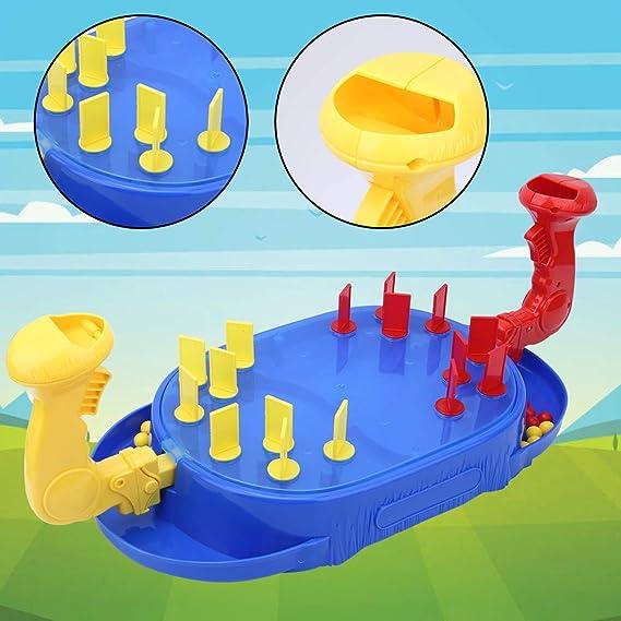 Tnfeeon Innovador Juego de Mesa de Lucha de mármol, Juguete de Batalla de catapulta de Cuentas de 2 Jugadores de Dibujos Animados Juguete Interactivo para Padres e Hijos: Amazon.es: Juguetes y juegos