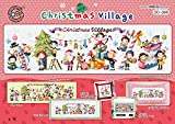 SO-G68 Christmas Village, SODA Cross Stitch Pattern leaflet, authentic Korean cross stitch design chart color printed on coated paper