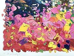 Agostino Veroni - Positano Painting Oil on Paper Mixed Media Amalfi Italy Art Seaview Modern Original Artwork Handmade Landscape Sea Beach Flowers Wall Art Home Decor Living Room Bedroom Gifts Her