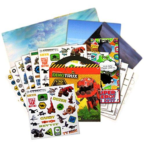 DINOTRUX Stickers Travel Activity Set Bundle with Stickers, Activities, and Specialty Door Hanger -