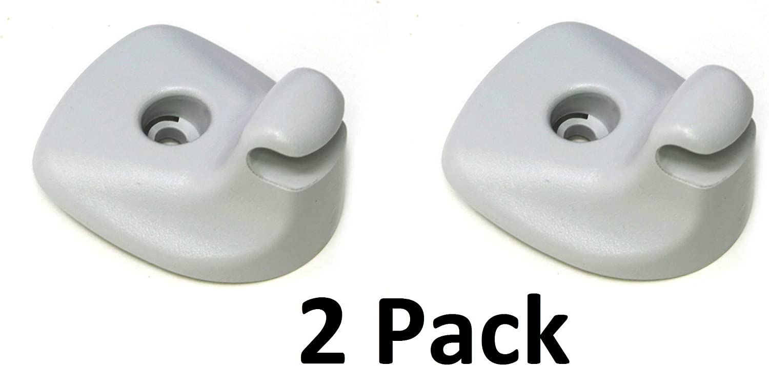 2007-2010 JSP Manufacturing New Aftermarket Replacement Grey Sun Visor Support Clip 1GW25DW1AA Compatible with Dodge Avenger and Chrysler Sebring 1
