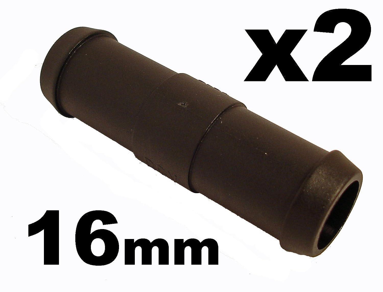 Schlauchverbinder Kunststoff Gerade x2 - Auß endurchmesser 16mm - Fü r Schlä uchen
