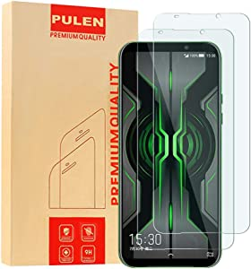 [2-Pack] PULEN for Xiaomi Black Shark 2 Pro Screen Protector,HD Clear Scratch Resistant Bubble Free Anti-Fingerprints 12H Hardness Tempered Glass