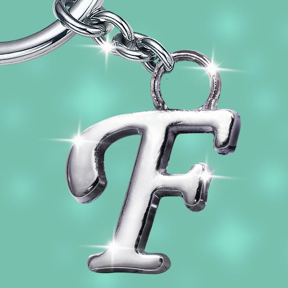 Stylish Letter F Simple Alphabet Key Ring Creative Packaging Design Box  Z-326