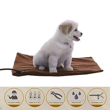 Kobwa - Almohadilla eléctrica para calefacción de perro, alfombrilla de calefacción para mascotas, resistente