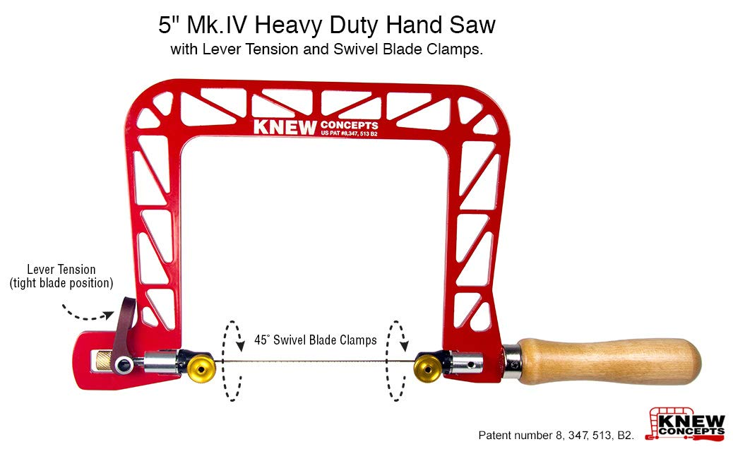 Knew Concepts MK IV Heavy Duty Hand Saw - 5 Inches by Knew Concepts