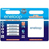 Panasonic BK-4MCCEC4BE Eneloop Micro AAA 750 mAh Rechargeable Battery with Batterybox (Pack of 4)