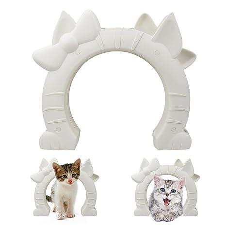 Puerta de gato de color que se adapta a puertas interiores huecas o de madera maciza