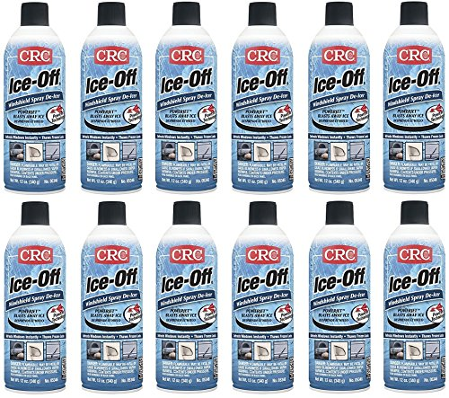 CRC 05346 Ice-Off Windshield Spray De-Icer - 12 Wt Oz. (12-Pack) by CRC