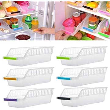 Partm Refrigerator Drawer Food Beverage Hollow Drawer Storage Box Shelf Baskets