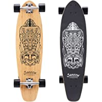 Sanview Bamboo Longboard Skateboard Cruiser for Kids Adults