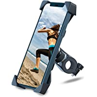 Grefay Bike Phone Mount Motorcycle Smartphone Holder for Handlebar Cradle Clamp with 360 Rotate 3.5-6.5 inch Device