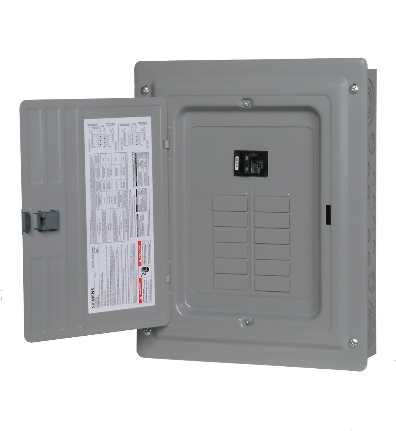 P1224B1100CU 100-Amp 12-Space 24-Circuit Main Breaker Load Center - Circuit  Breaker Panels - Amazon.com