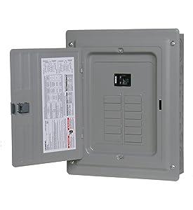 P1224B1100CU 100-Amp 12-Space 24-Circuit Main Breaker Load Center