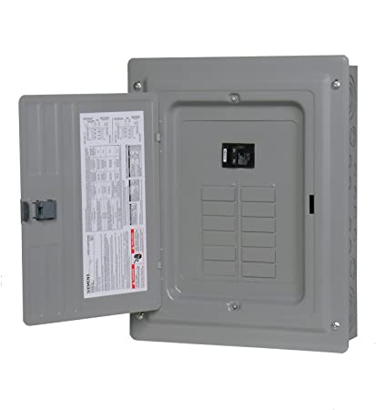 p1224b1100cu 100 amp 12 space 24 circuit main breaker load center rh amazon com