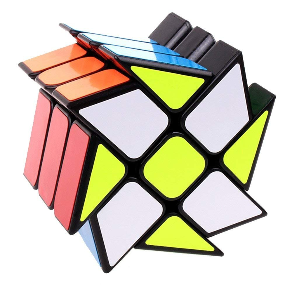 Ablave Rubik's Cube,Windmill Speed Cube Hot Wheels Twisty Puzzle for Kids' Intelligence Development, Speed Cubing Beginners or Puzzle Enthusiasts Ablave Rubik's Cube