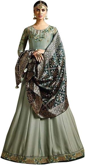Amazon.com: Vestido de cóctel de estilo abaya Anarkali ...