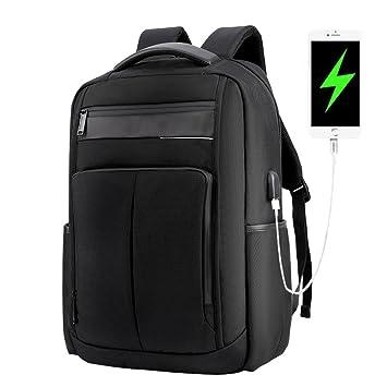 Kaxima Mochila Portátil, 14 Pulgadas USB Cargador portátil Impermeable morral, Poliester Resistente al Desgaste, Mochila de Hombres de Negocios Viaje: ...