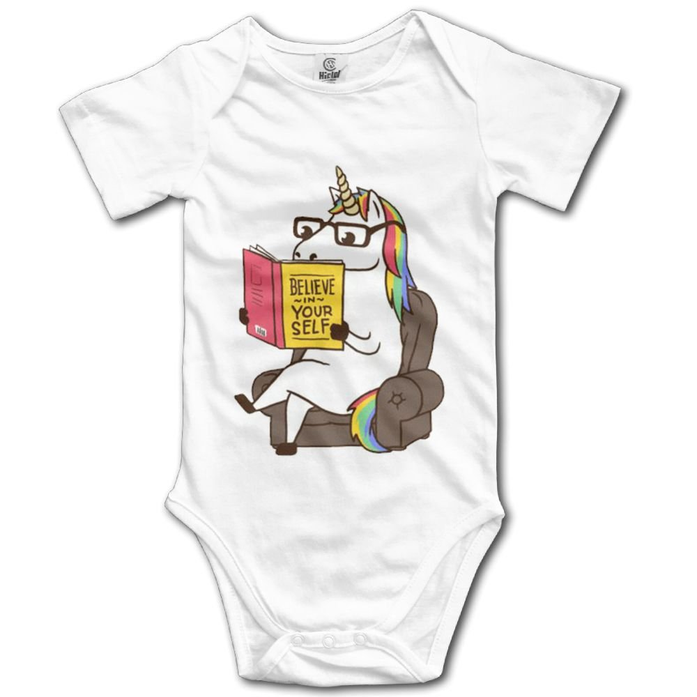 Rainbowhug Art Unicorn Unisex Baby Onesie Cartoon Newborn Clothes Unique Baby Outfits Soft Baby Clothes