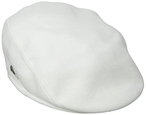 b4afd704350 Lacoste Men s Pique Cotton Flat Cap