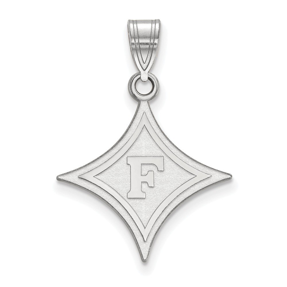 925 Sterling Silver Rhodium-plated Laser-cut University of North Carolina Large Pendant