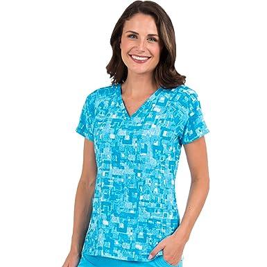 02de17616c5 Amazon.com: Med Couture 8585 Paint Me Blue Top   XS: Clothing