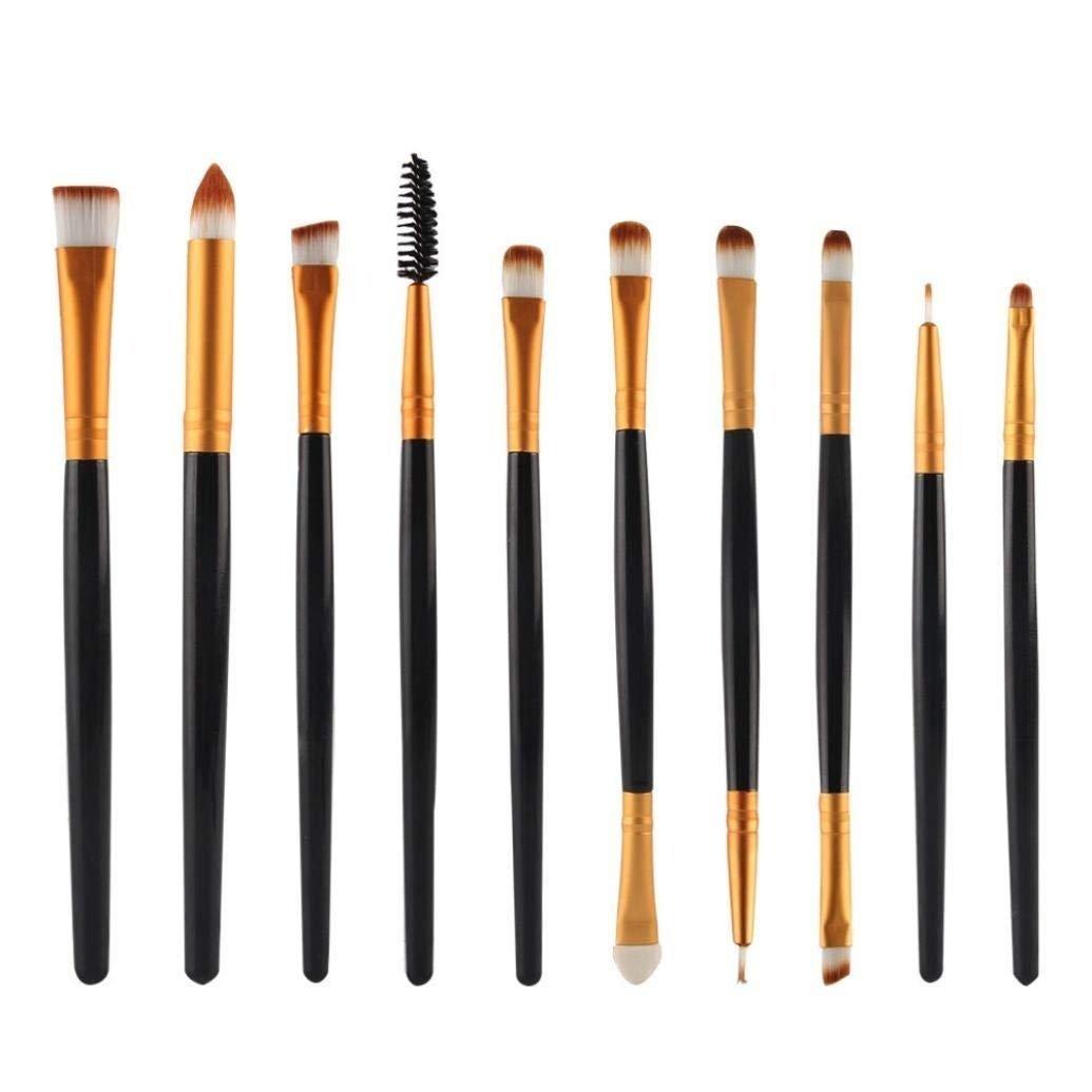 10pcs/set Makeup Brush Set, callm Glitter Makeup Brushes Kit Foundation Powder Cosmetic Makeup Tool Eyeshadow Concealer Make Up Brush (black)