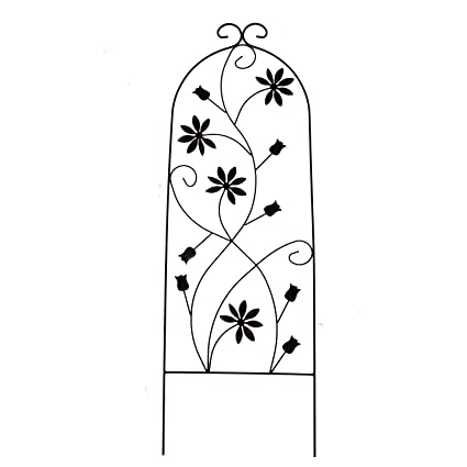 Go Metal Garden Trellis Panel Arch For Climbing Plants, 16u0026quot; Wide X