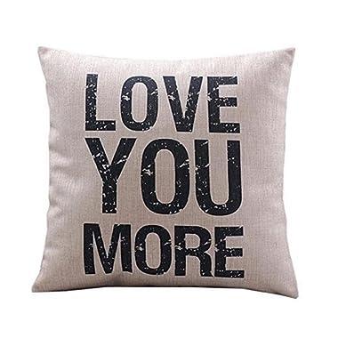 Pillow Cases, IEason Clearance Sale! Pillow Case Sofa Waist Throw Cushion Cover Home Decor (E)