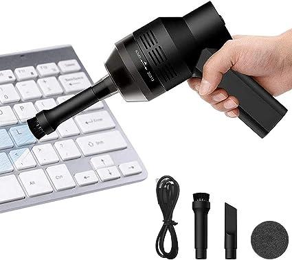 Aspirador Teclado Powcan Mini Aspirador Inalámbrico de Mano Recargable con Li-batería Aspirador Portátil de Alta Aspiración para Teclado Portátil PC ...