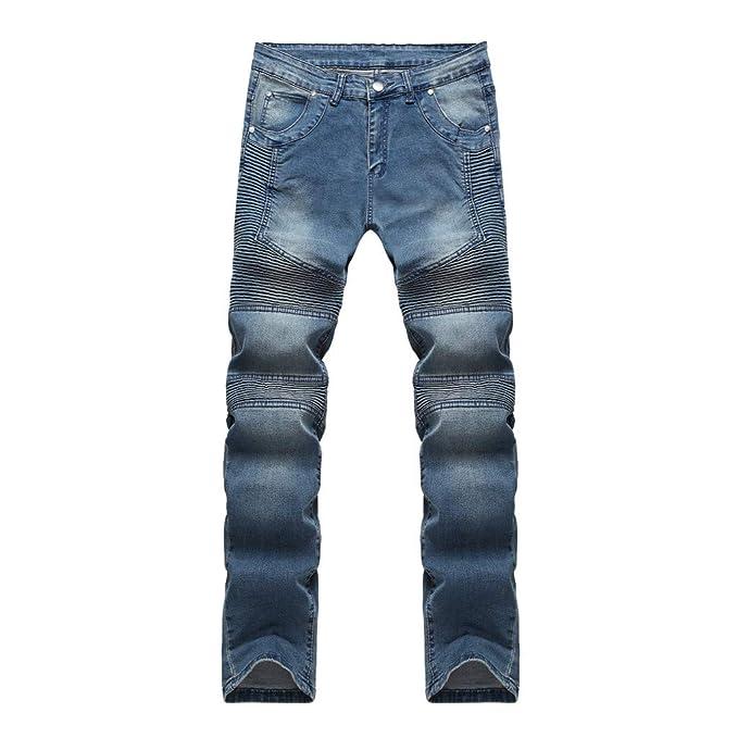 Pantalones Hombre Verano Vaqueros Pitillo De Moda para ...